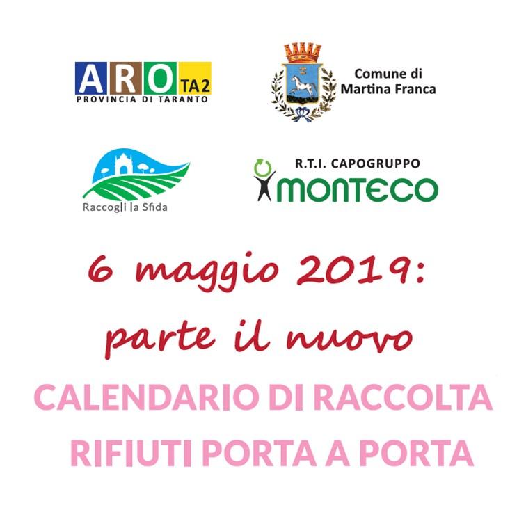 Martina Franca: modifiche al Calendario di Raccolta nel Centro Urbano