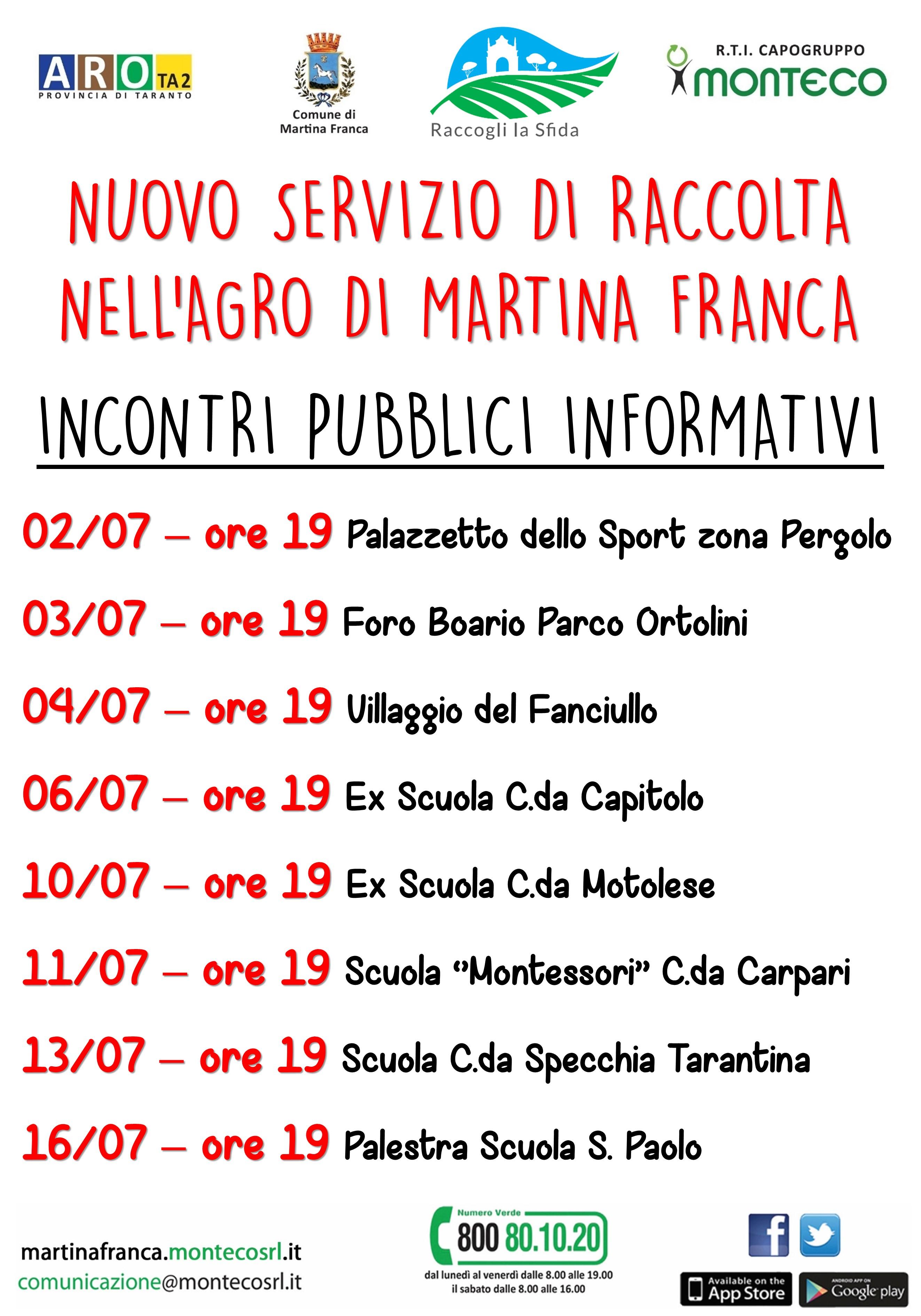 Martina Franca: nuovi incontri pubblici informativi nell'agro