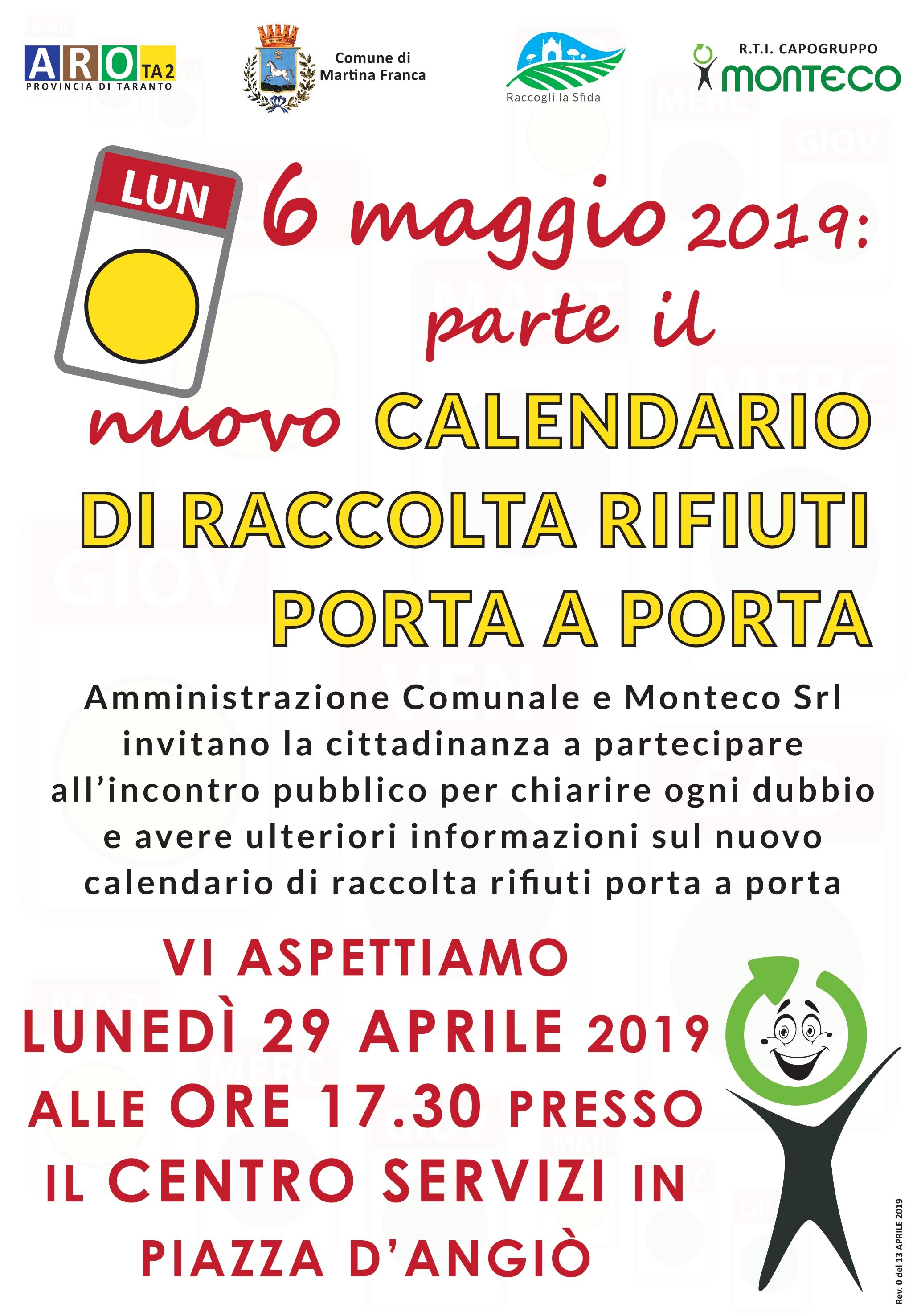 Martina Franca: incontro pubblico informativo in vista dei nuovi calendari di raccolta